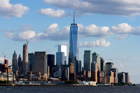 sky line of lower Manhattan with new Freedom Tower